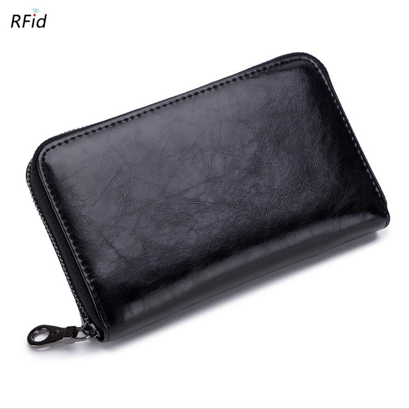 86c3a1130e9d Detail Feedback Questions about New Fashion Women s Wallets Split Leather  Unisex Purse Passport Bag RFID Blocking 24 Card Holder Cell Phone wallet  Men purse ...