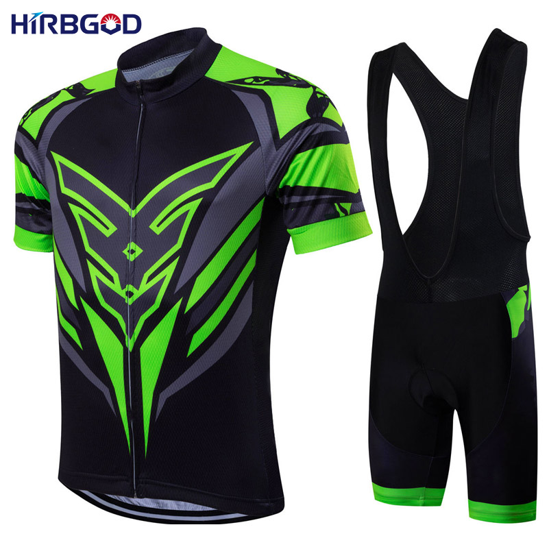HIRBGOD men's summer short sleeve cycling sets mtb downhill jersey + bib suit short sleeve cycle maillot ciclismo clothing EL015|clothing quality|clothing unisex|clothing - title=