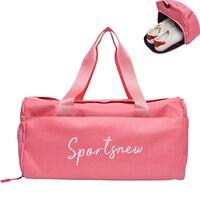 Outdoor Waterproof Nylon Sports Gym Bags with Shoe Pocket Men Women Girls Training Fitness Travel Handbag Yoga Mat Bag Sac Sport