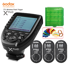 купить Godox XPro-C Flash Trigger Transmitter E-TTL 2.4G Wireless X System HSS+3* XTR-16 Receiver for Canon with AD360 DE DP QT series недорого