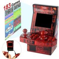 נייד משחקי מיני נייד קונסולת משחקי הווידאו כף יד קלאסי ארקייד מכונת רטרו מובנה 183 משחקי ארקייד תמיכה TF כרטיס (4)
