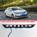 Черный стиль Автомобильный светодиодный задний фонарь для Toyota Corolla 2014 2015 2016 2017 2018 задний противотуманный фонарь + стоп-сигнал