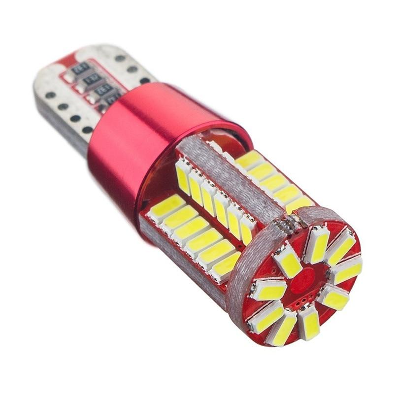 20PCS White 620 Lumens CANBUS Error free T10 57SMD 3014 12V Side Marker Light LED Bulbs W5W