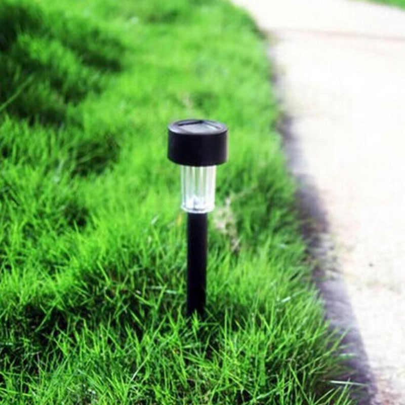 Нержавеющая сталь Солнечный газон свет сад светодио дный свет LED Спайк пятно наружного освещения прожектор Пейзаж Двор Путь солнечные лампы