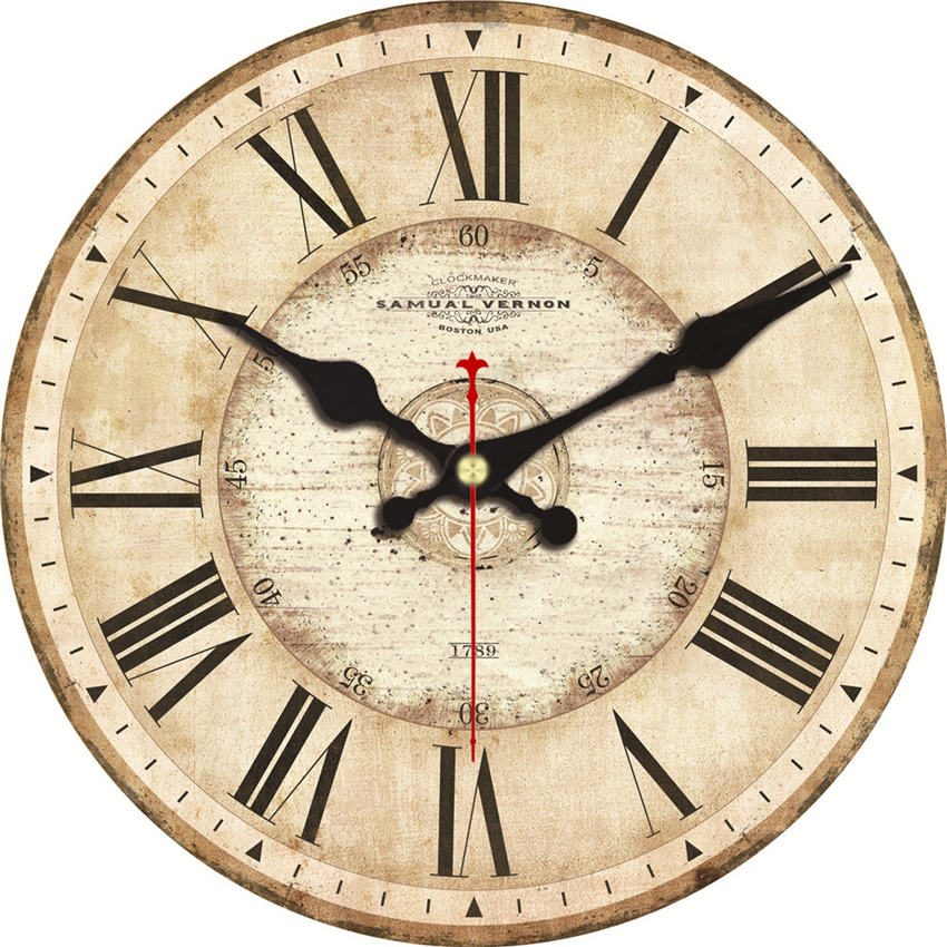 Shabby Chic,Abstract Wall Clocks,Vintage Wall Clock,Wall Watches Home Decor,Wall Clock Kitchen
