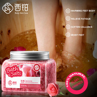 300g Rose Extract Spa Salt Foot Salt Bath Salt Soak Exfoliation Dead Skin Remove For Foot Skin Care Massage Whitening Foot Care