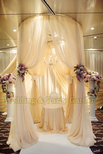2m diameter by 3m tall circle single tube of wedding pipe and drape pavilion for wedding arch, chuppah, backdrop stand