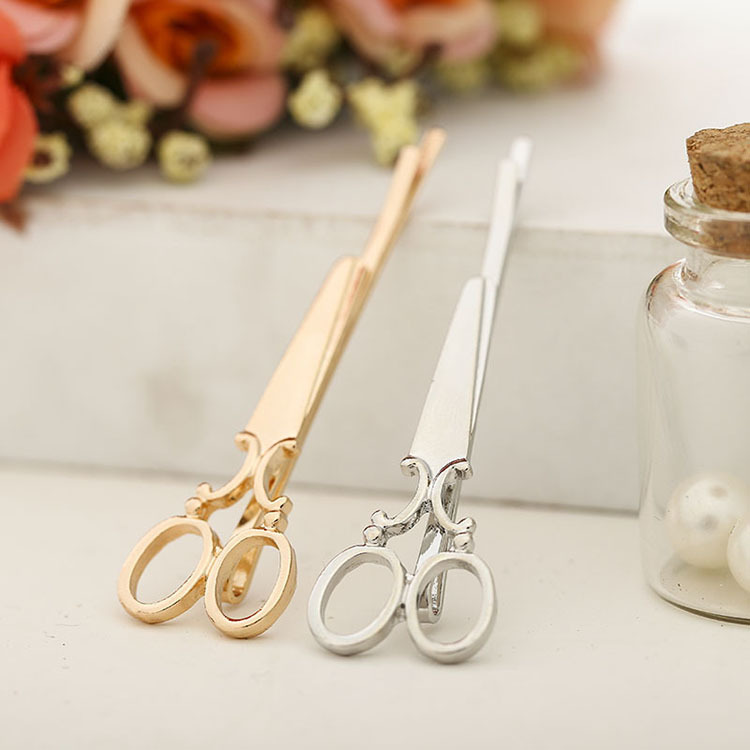 Scissors Hairpin Word-Clip Minimalist Japanese Korean Creative Cute And F26 Small Personality