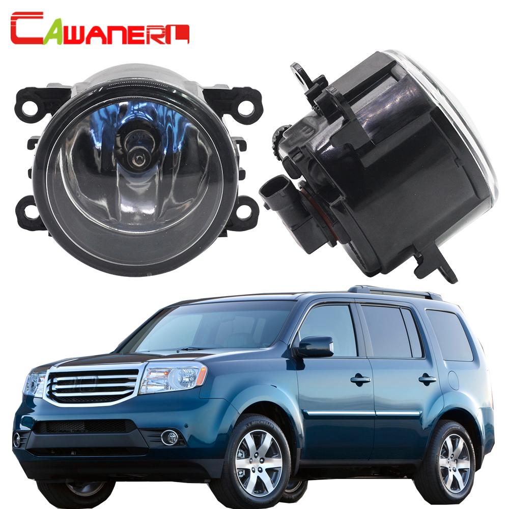 Cawanerl 2 Pieces H11 100W Car Fog Light DRL Daytime Running Lamp Halogen Bulb 12V Styling For 2012-2015 Honda Pilot 3.5L V6 cawanerl for toyota highlander 2008 2012 car styling left right fog light led drl daytime running lamp white 12v 2 pieces