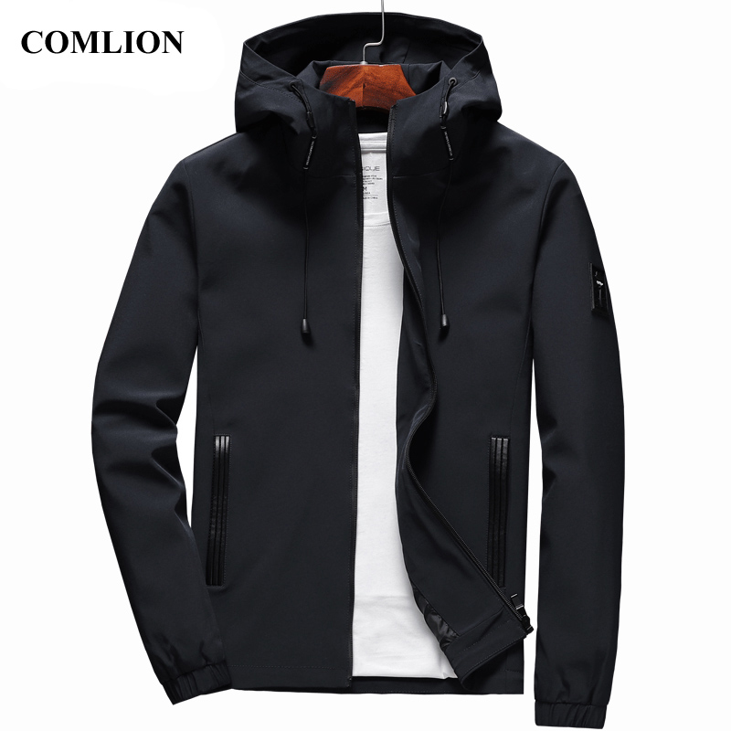 Jacket Men New Arrival Casual Solid Hooded Jackets Mens Fashion Zipper Outwear Slim Fit Spring Autumn & Winter High Quality C32