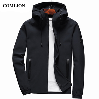 Jacket Men New Arrival Casual Solid Hooded Jackets Mens Fashion Zipper Outwear Slim Fit Spring Autumn Clothing High Quality C32 Jackets