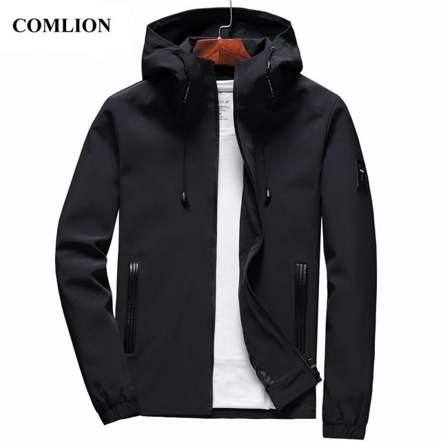 מעיל גברים חדש הגעה מזדמן מוצק סלעית מעילי Mens אופנה רוכסן להאריך ימים יותר Slim Fit אביב סתיו בגדים באיכות גבוהה C32