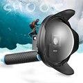 СТРЕЛЯТЬ Оригинальный 6 ''Купол Порт для GoPro Hero 3 + 4 с дополнительный ЖК-Экран Клип и Затенение Крышка Объектива Капот 2.5 Версия