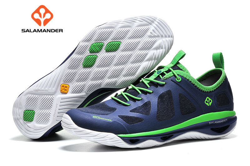 ФОТО 2017 NO2 sport running shoes Original salamander Genuine Leather Sport Running Shoes for Men outdoor sport  Shoes Sneakers