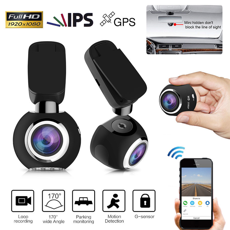 1.54 170 Degrés 1080 P FHD Voiture DVR Caméra Automobiles WIFI Night Vision Digital Video Recorder Dash Cam Mini Auto Caméscope GPS