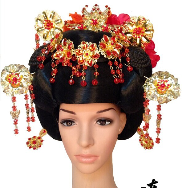 ФОТО 2014 New Design Hair Wig Full Set with Hair Accessory Tale of Seven Fairy Ladies Hair Wig