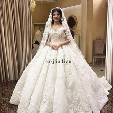 kejiadian 2019 Royal Luxury 3D-Floral Wedding Dresses Gowns