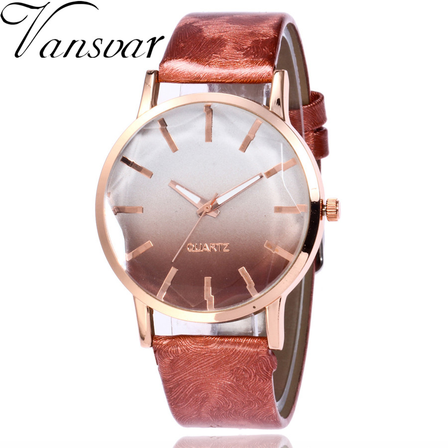 Vansvar Fashion Women Watches Casual Leather Women's Quartz Watch Vintage Ladies Bracelet Clock Watch Gift Relogio Feminino 2112 2016 women diamond watches steel band vintage bracelet watch high quality ladies quartz watch