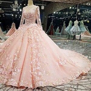 Image 4 - AIJINGYU 2021 lüks kristal köpüklü elmas prenses yeni sıcak satış elbisesi v yaka resmi gelin elbiseler düğün elbisesi WT122