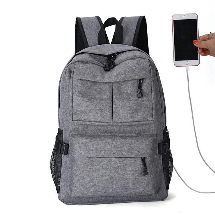 30PCS/LOT  USB Backpack Book Bags for School Backpack Casual Rucksack Daypack Oxford Canvas Laptop Fashion Man Backpacks