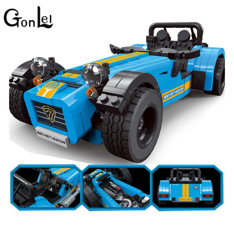 GonLeI Decool 8612 8613 ideas racers Caterham Seven 620R Sports Car And Sports Model Toys Blocks Brick Compatible 21307