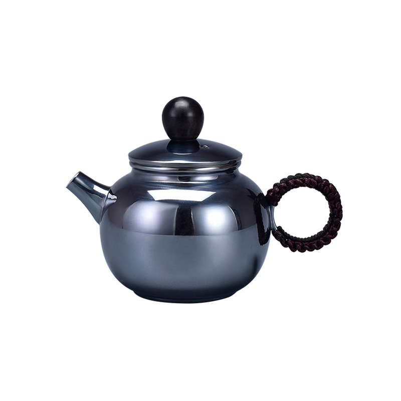 High grade Silver made Tea Kettle Vacuum Thermos cup Coffee cup  Kung Fu Tea gift for family and friends kitchen office tea set|Teaware Sets| |  - title=