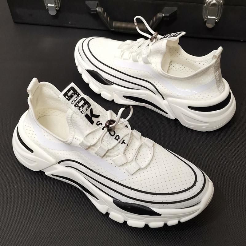 Nouvelle tendance baskets hommes sans dentelle chaussures basses chaussures plates respirant maille chaussettes chaussures plates chaussette chaussures zapatos de hombre K3-91