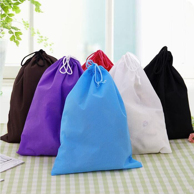 30*39cm candy color Waterproof School Boys Girls Drawstring Book Bag Sport Dance Shoe Backpack Travel Luggage Bag Storage