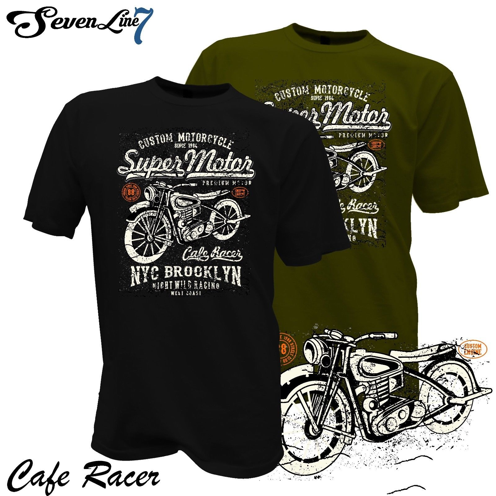 Hot Sale Men   T     Shirt   Fashion   T  -  Shirt   Cafe Racer Biker Motorrad Rocker Garage Custom Motorcycle Club 1468 Summer O-Neck Tops