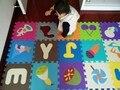Desenvolvimento suave infantil rastejando tapetes, jogo do bebê número puzzle/carta/desenhos animados esteira da espuma de eva, almofada piso para jogos de bebê
