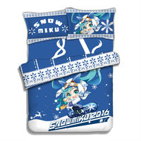 Hobby Express Snow Miku Hatsune Vocaloid Japanese Anime Bed Blanket or Duvet Cover with Two Pillow Cases ADP CP151204