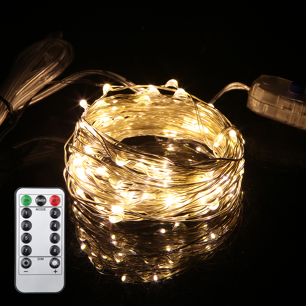 Fairy Light 5M 10M 5V USB Operated Christmas Wedding Party Decoration LED String Christmas Lights