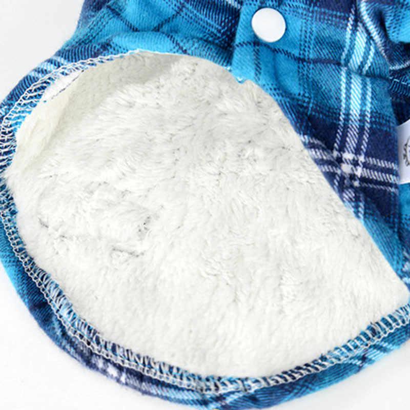 Camicia cane Pet Gatto del cane di Inverno Vestiti Caldi Piccolo Peluche di Cotone Autunno Inverno Lettere Cappotto Tshirt Costume Apparel Rosso Blu DOGGYZSTYL