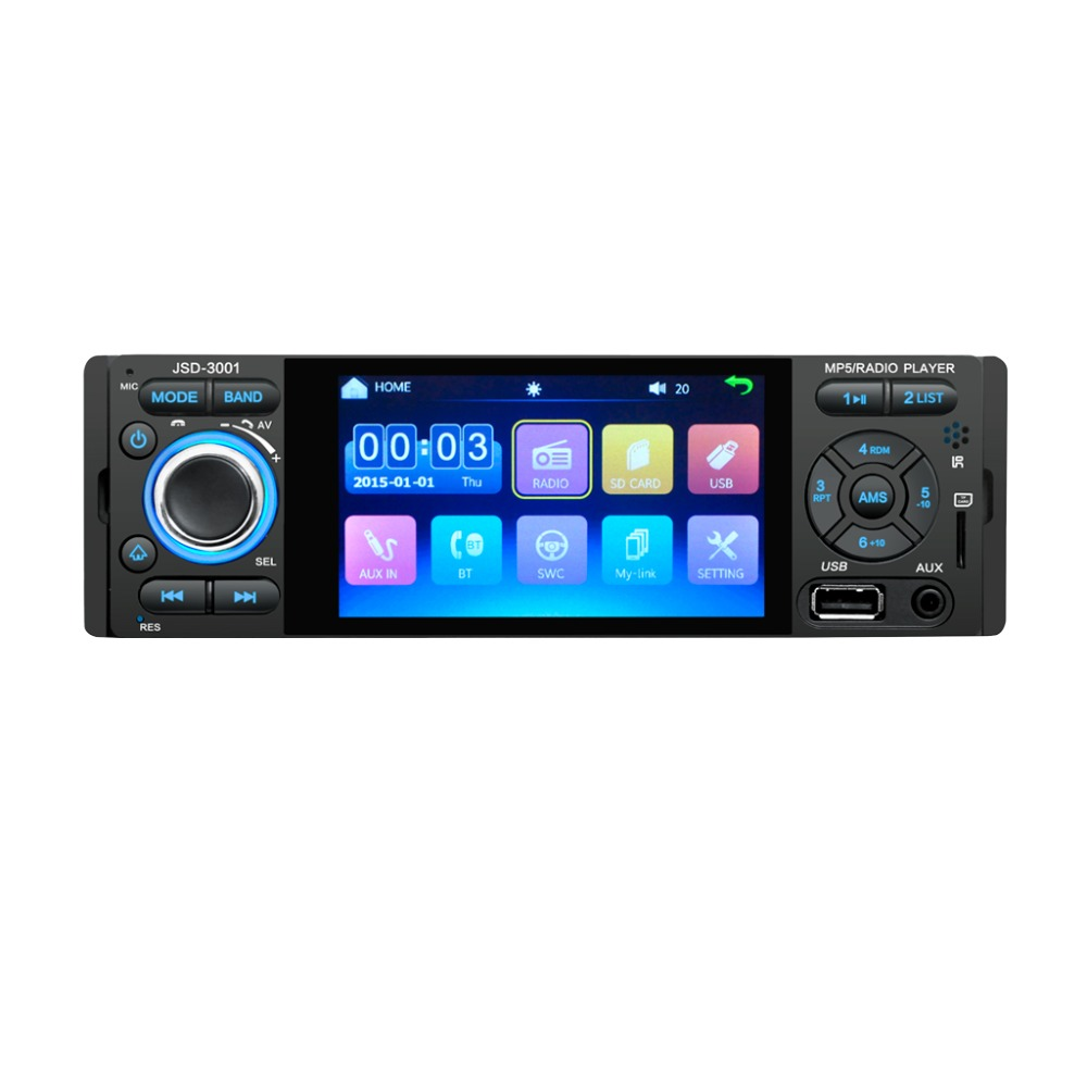 3001 1Din 12V 4.1inch Radio Tuner Bluetooth  MP4/MP5 Vehicle player Vehicle MP5 multifunctional player  Bluetooth MP3 player-in Car Radios from Automobiles & Motorcycles