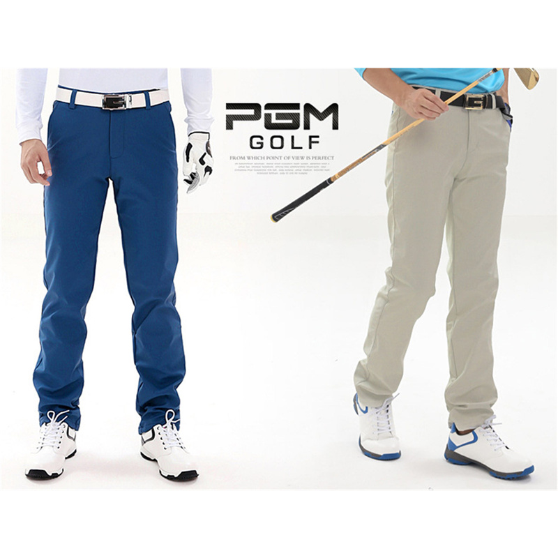 PGM Outdoor Sport Long Trousers Dry Quick Golf Pants Men Summer Slim Fitness Sports Pant Spring Golf Garment Solid Color Pants