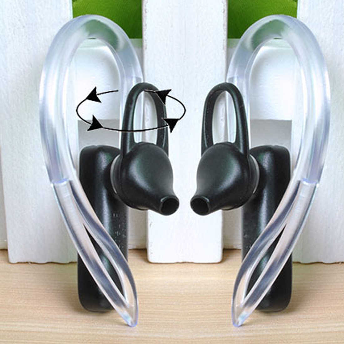 2Pcs 6 Mm 7 Mm 8 Mm 10 Mm Bluetooth Earphone Silikon Transparan Sangkutan Telinga Lingkaran Klip Headset Ear Hook pengganti Aksesoris