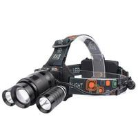 New Three Led Lamp Cap Light Charge Super Bright Night Fishing Lamp Fishing Light T6 Headset