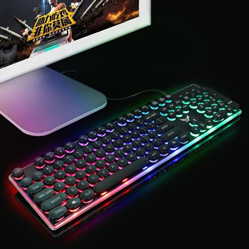 עגלות פג HXSJ J40 USB עם חיבור לחשמל מקלדת תאורה אחורית צבעונית 5500DPI מתכוונן עכבר עבור Windows 98 / Me / 2000 / XP / Vista / Win7 / 8/10 / Vista / Mac OS (4)