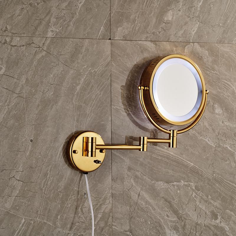 ronda de bao montado en la pared espejo de aumento de luz led espejo cosmtico de