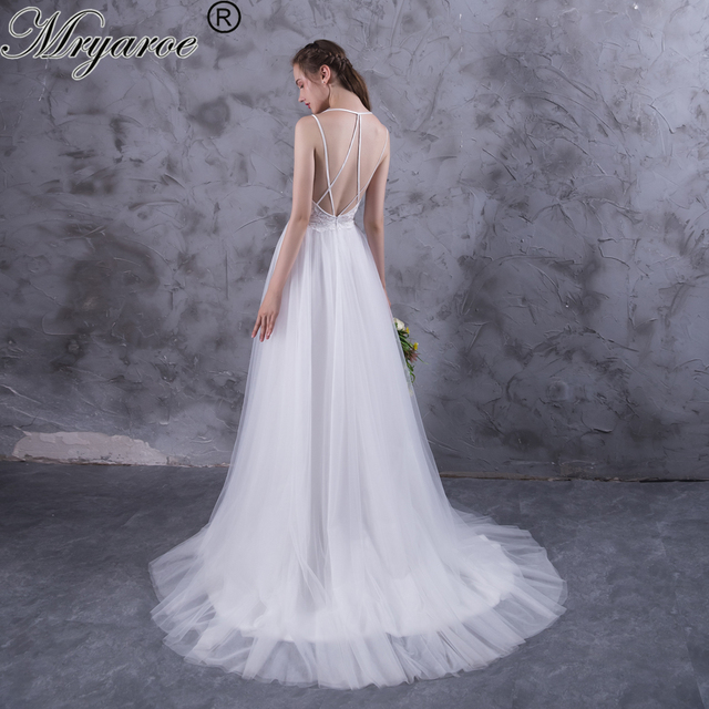 Criss Cross Back Wedding Dress