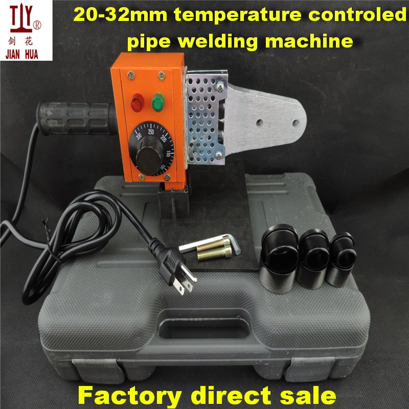 Free shipping temperature controled  20-32mm plastic pipe heater welder, welding machine pipes ppr AC 110V US power plug to use free shipping plumber tool with 42mm cutter 220v 800wplastic water pipe welder heating ppr welding machine for plastic pipes