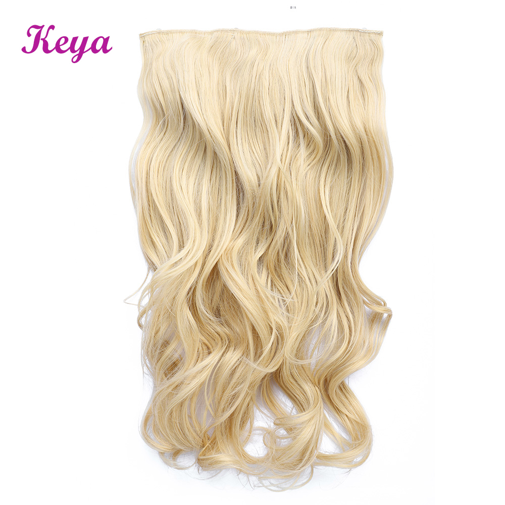 Wavy Clip in Hair Extensions 4 Clips in One Piece Natural Halo Hair Extensions 24 Inch 190g Synthetic Hair Extensions For Women(China)