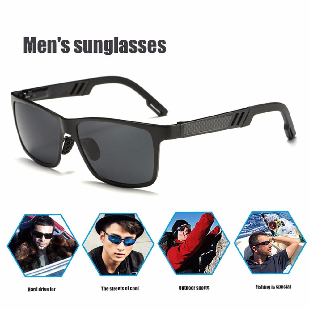 Prix pour Cyclisme Lunettes Cadre En Aluminium Coloré Polarisées UV400 Lunettes De Protection lunettes de Soleil Pour Hommes Vente Chaude