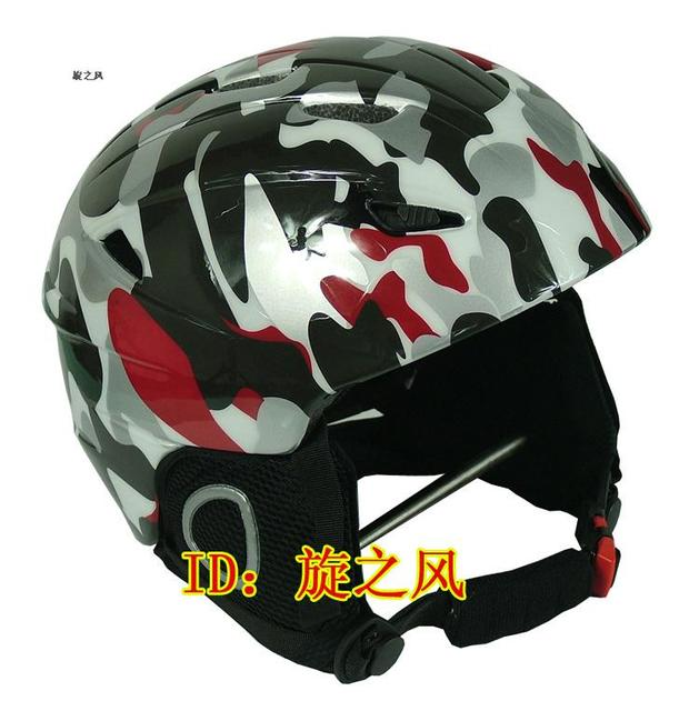 Free shipping Skiing helmet professional single helmet skiing flanchard general chromophous skiing helmet