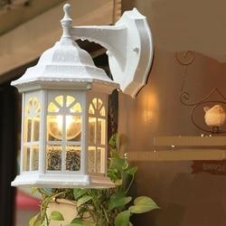 Światło zewnętrzne lampy ścienne w stylu europejskim amerykański wiejski dziedziniec balkon salon korytarz wodoodporna ściana lampy ZA FG219 w Lampy ścienne od Lampy i oświetlenie na
