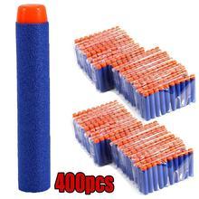 400 pçs/set Balas Macias Dardos para Nerf Gun Cabeça Redonda Esponja de Recarga Dardos de Segurança Crianças Brinquedo Arma Balas Para Blasters NERF N-Strike