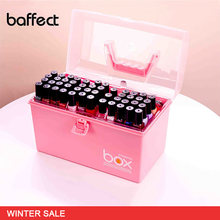 New Plastic Multifunction Makeup Storage Box Organizer Lipstick Holder Nail Polish Rack Desktop Cosmetic Tools Shelf Container(China)