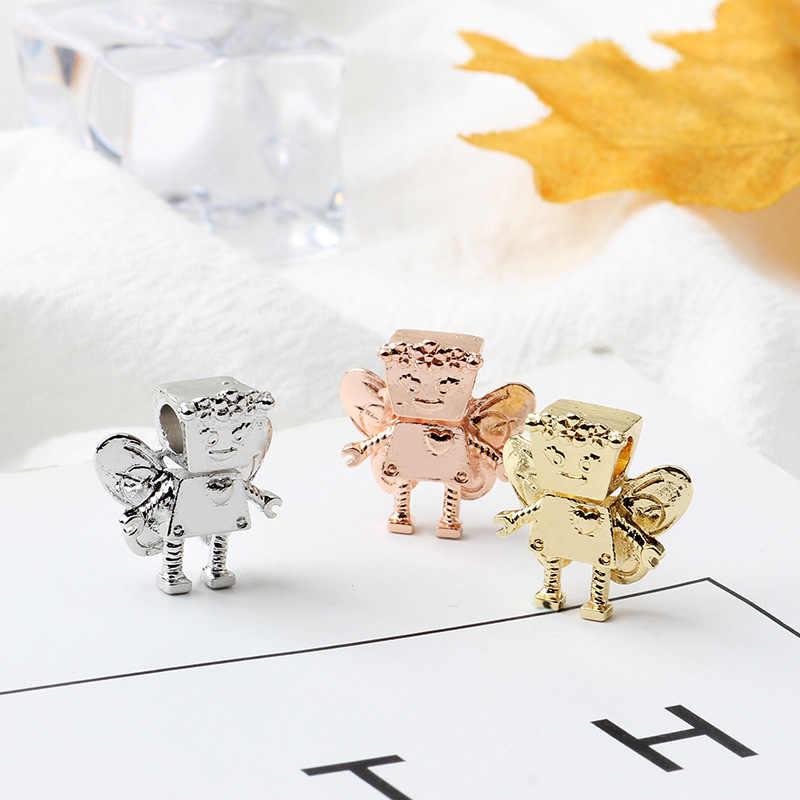 Nowe oryginalne różowe złoto koralik miłość serce rodzina mama kwiat urok pasuje europejskiej bransoletka pandora naszyjnik biżuteria DIY kobiety biżuteria