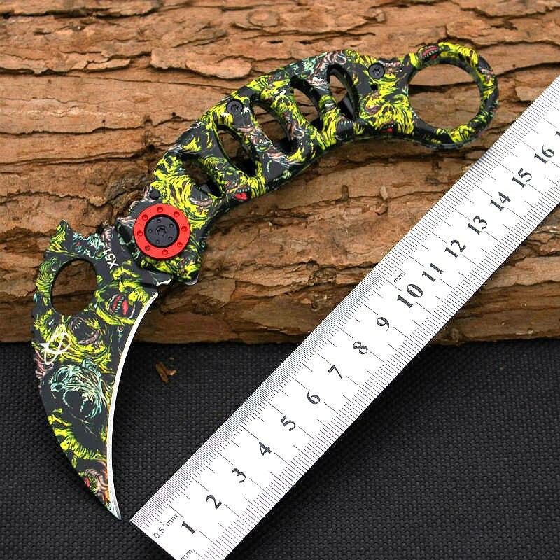 New Karambit Claw font b Knife b font Mantis Folding font b Knife b font 440C