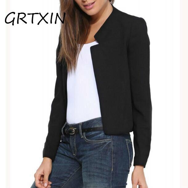 2018 Frühling Herbst Neue Mode Frauen Kurze Blazer Mantel Candy Farbe Casual Anzug Blazer Und Jacke Solide Dünne Weibliche Blazer